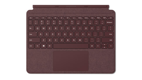Surface Go Signature Type Cover in Bordeauxrood