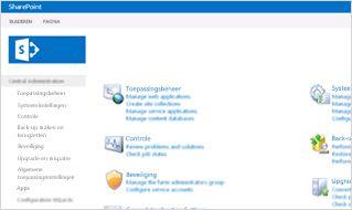Schermafbeelding van de beheerconsole in SharePoint Online.