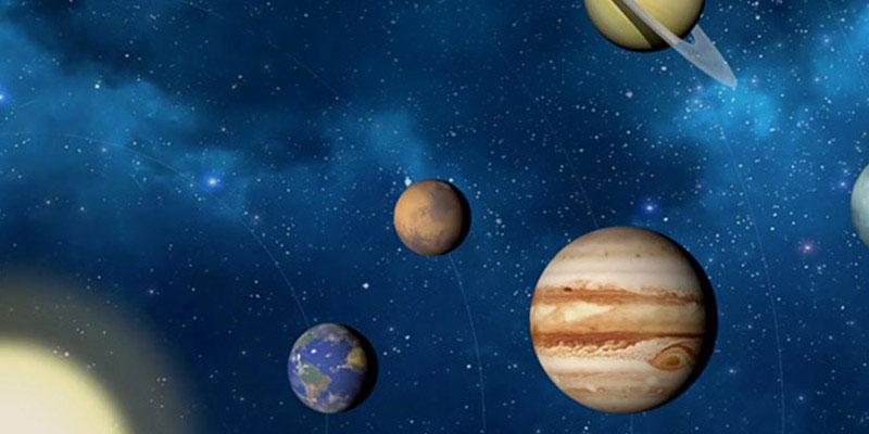 Vier planeten in het heelal