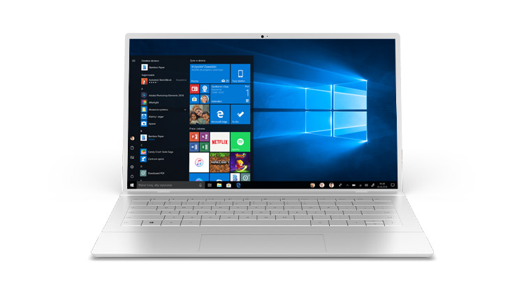 Komputer z systemem Windows 10