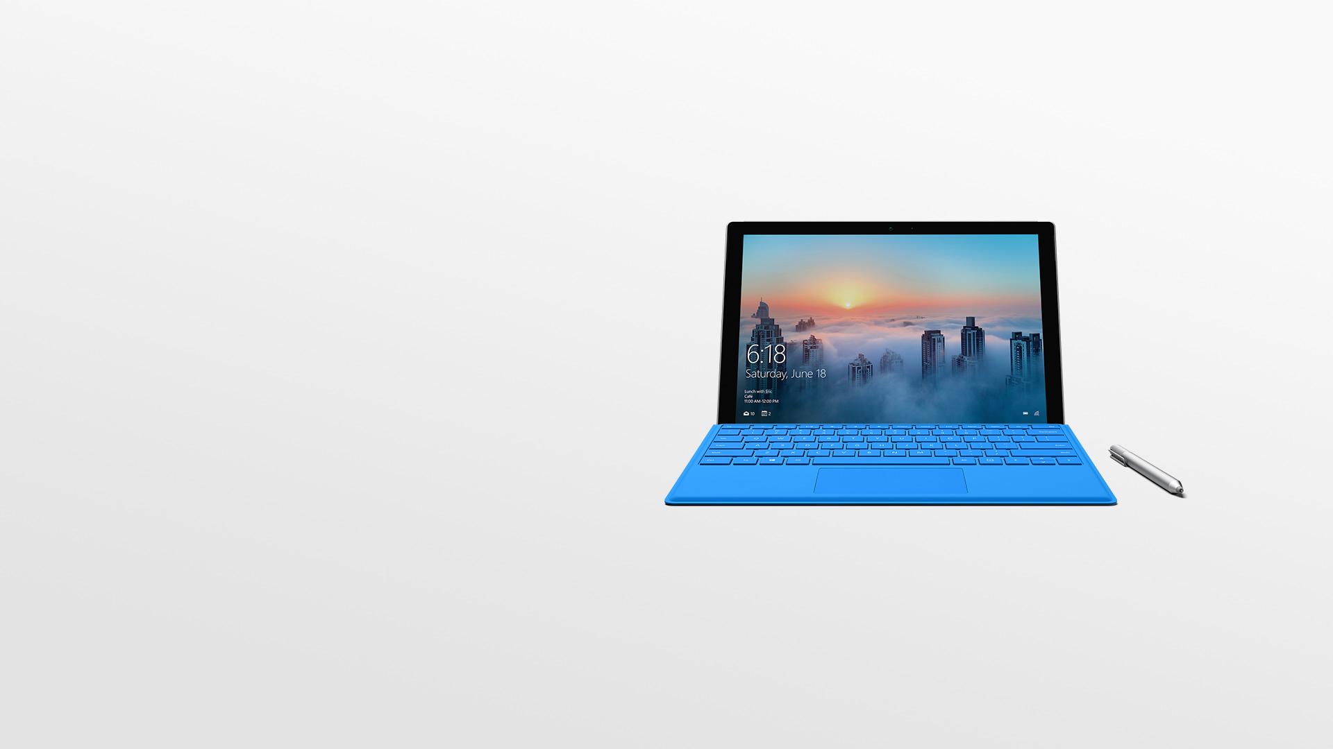 Urządzenie Surface Pro 4 z piórem Surface.
