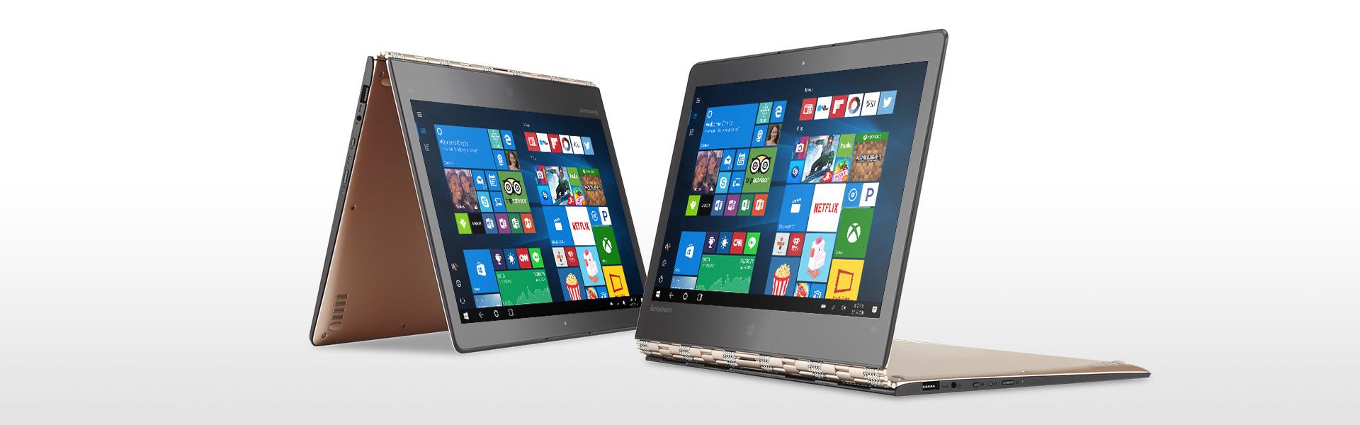 Lenovo Yoga 900 złożony jak namiot i w trybie podstawki
