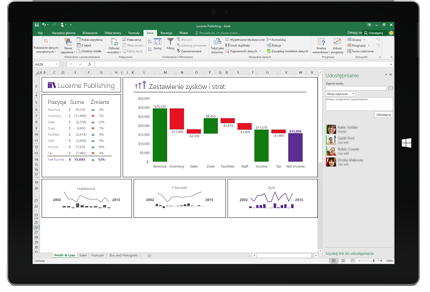 Zrzut ekranu przedstawiający stronę Udostępnianie w programie Excel z wybraną opcją Zaproś osoby.