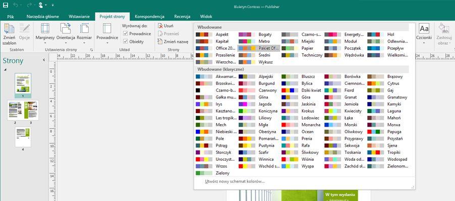 Publikacja w programie Publisher z narzędziami obrazów na wstążce.