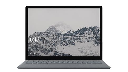 Klawiatura urządzenia Surface Laptop pokrytatkaniną Alcantara®.