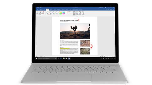 Surface Book 2 z wyświetlaczem PixelSense™ o przekątnej 13,5 cali i czterordzeniowym procesorem Intel® Core™ i7-8650U dla i7 13,5