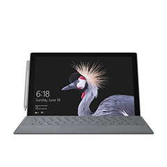 Urządzenie Surface Pro z LTE Advanced widziane od przodu