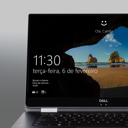 Uma tela de login do Windows Hello