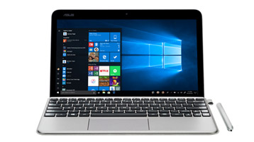 ASUS T103 com uma tela inicial do Windows 10