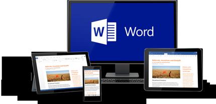 O Word funciona em todos os seus dispositivos