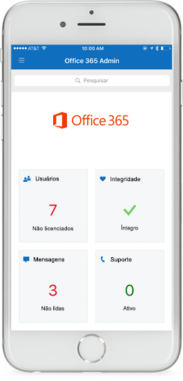 Aplicativo Office 365 Admin