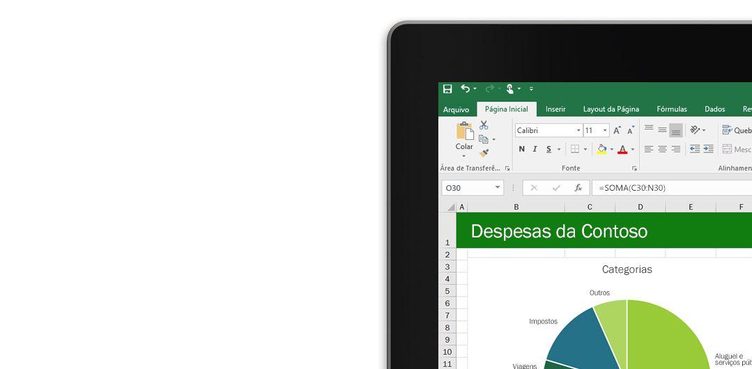 Um laptop mostrando uma planilha do Microsoft Excel com um gráfico.
