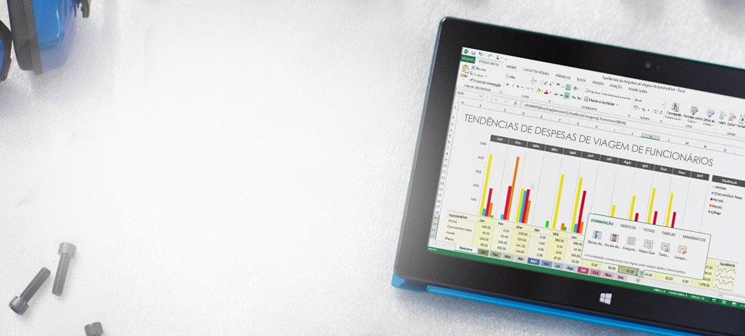 Office 365 — ferramentas empresariais com as quais você pode contar.  A qualquer momento. Em praticamente qualquer lugar.