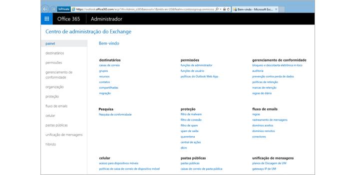 Imagem ampliada da página Visualizar Resultados para pesquisar no Exchange Online.