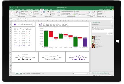 Uma captura de tela da página Compartilhar do Excel, com a opção de convidar pessoas selecionada.