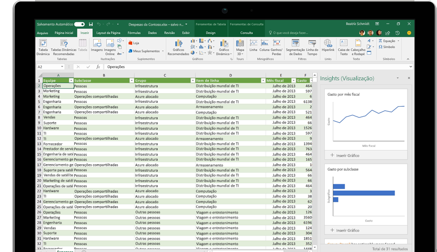 A página Compartilhar no Excel, com a opção Convidar pessoas selecionada.