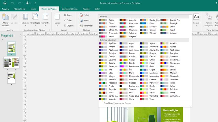 Publicação do Publisher com ferramentas de imagem sendo exibidas na faixa de opções.