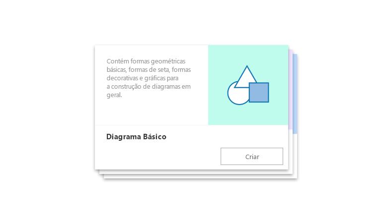 Iniciador de Diagramas pré-elaborado do Visio Online