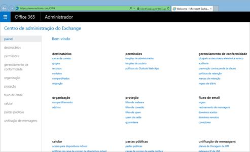Ampliação da página de Resultados da visualização de uma pesquisa no Exchange Online.