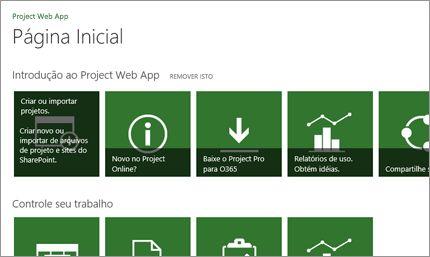Comece a trabalhar rapidamente com o Microsoft Project