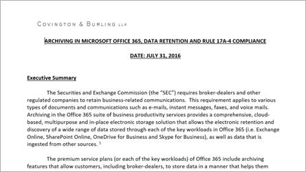 White paper sobre arquivamento no Office 365, baixe o arquivo do Word