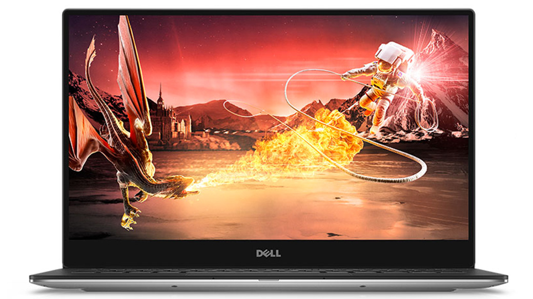 Um filme mostrado na tela de um Dell XPS 13