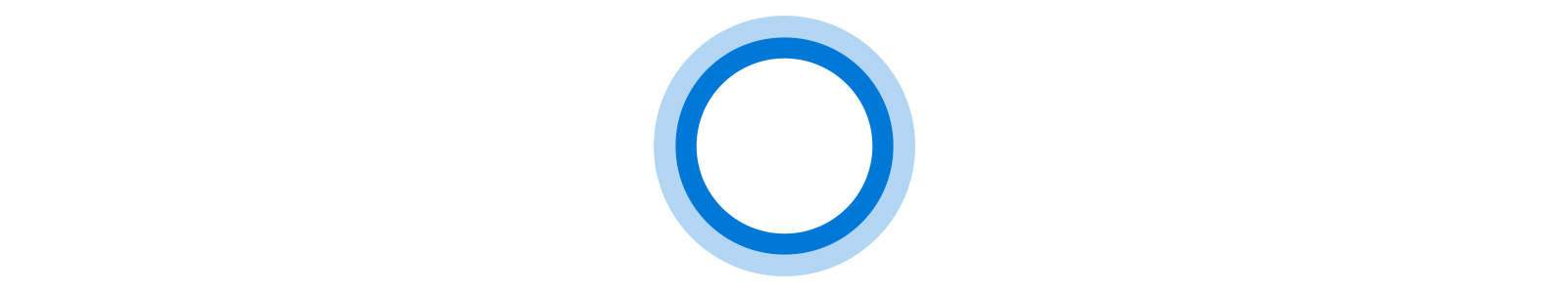 Ícone animado da Cortana