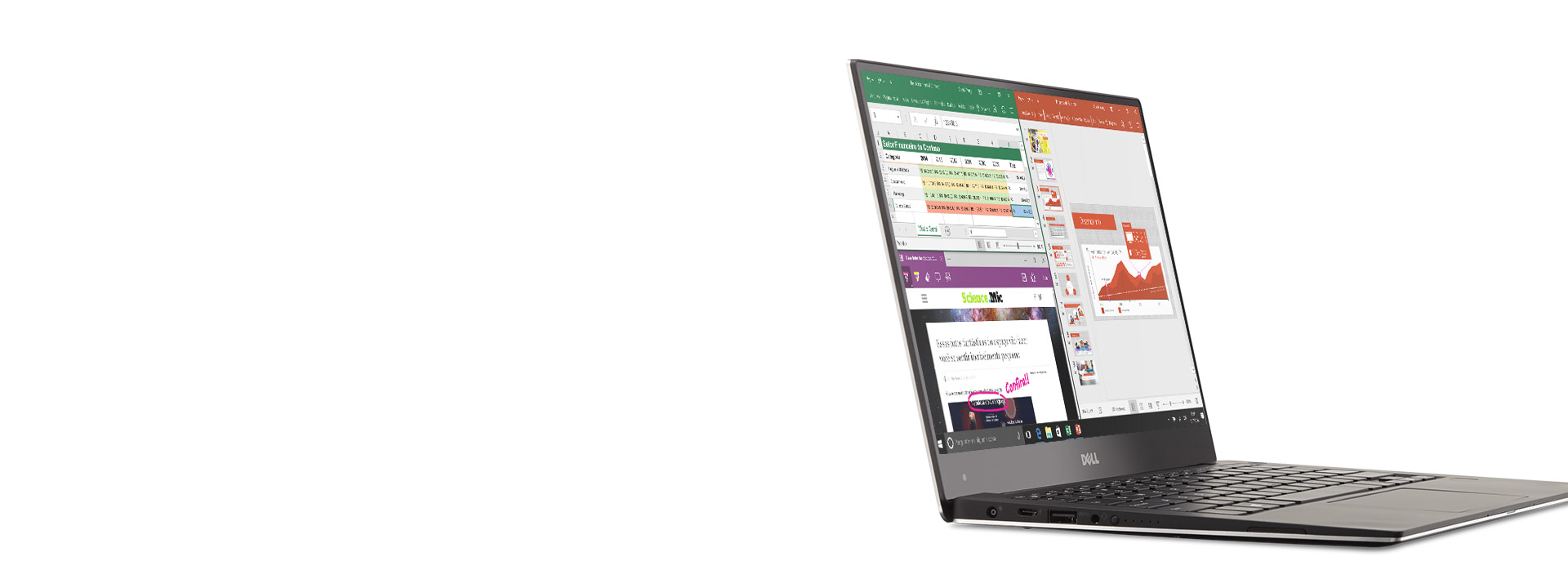 Surface Pro 4 com Office na tela