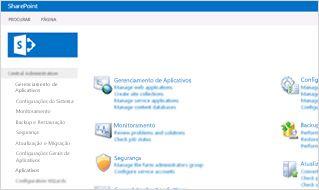 Captura de tela do console de administração do SharePoint Online.