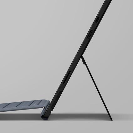 Vista lateral do suporte Microsoft Surface