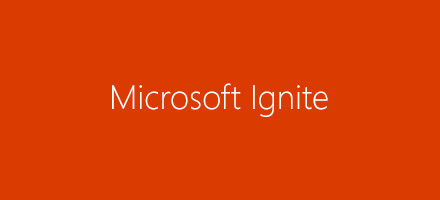 Logótipo do Microsoft Ignite. Veja sessões do SharePoint a partir do Microsoft Ignite 2016