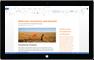 Tablet Windows a executar uma aplicação do Office