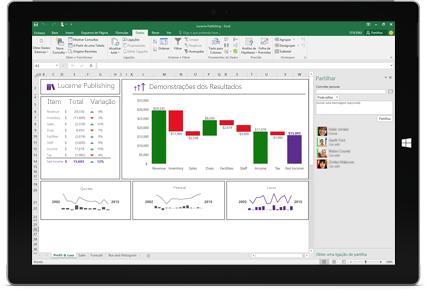 Captura de ecrã da página Partilhar no Excel, com a opção Convidar Pessoas selecionada.