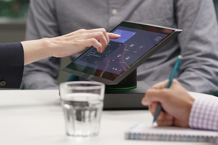 Ficheiros apresentados no OneDrive num tablet