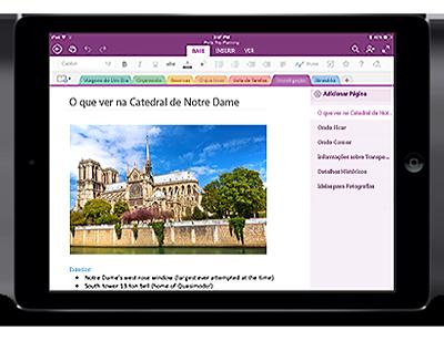 OneNote para iPad