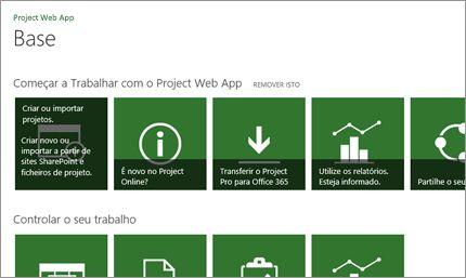 Comece a trabalhar rapidamente com o MS Project