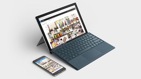 Sincronizar o seu telemóvel com qualquer dispositivo Surface.