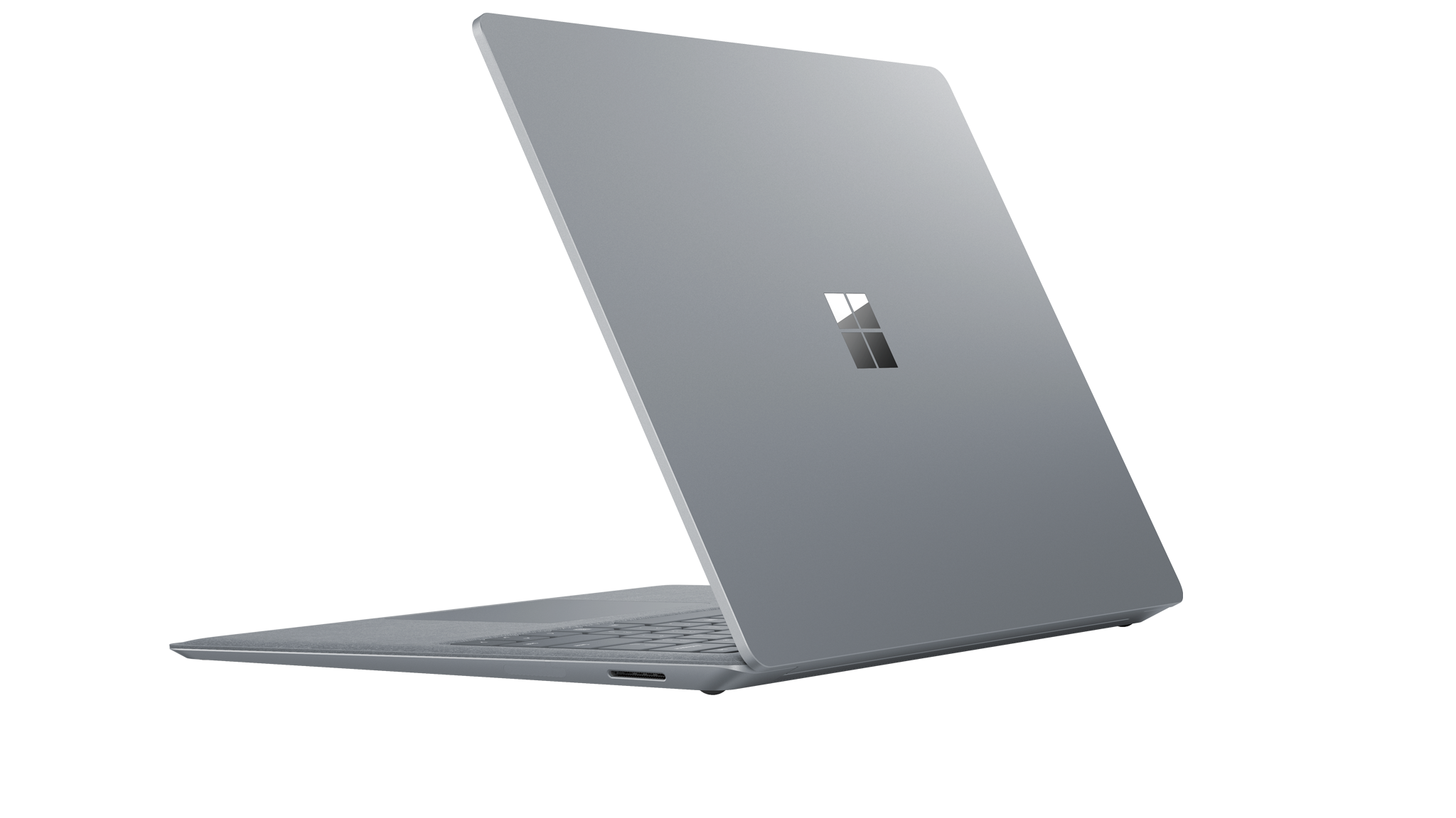 Vista lateral do Surface Laptop 2