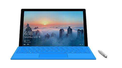 Vista frontal do Surface Pro 4