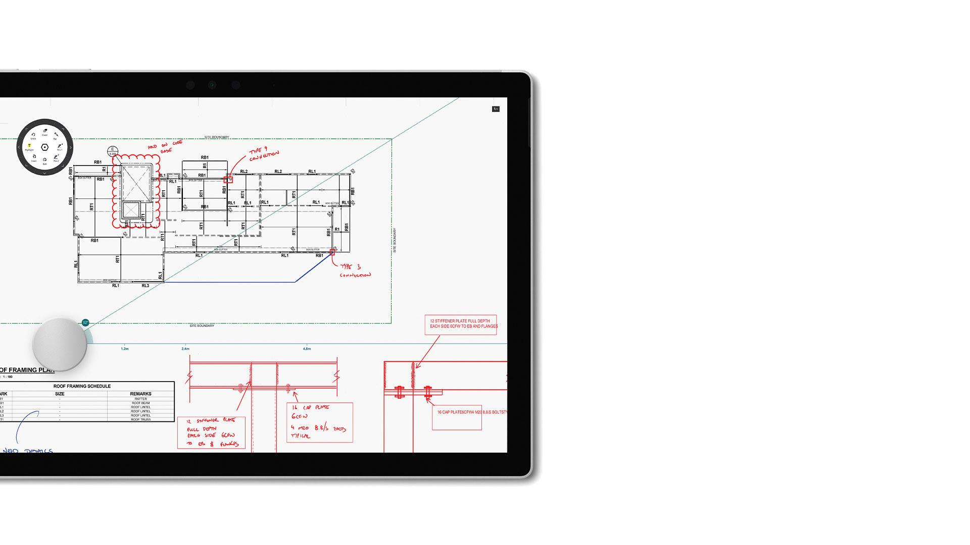 Captura de ecrã do Drawboard PDF no Surface.
