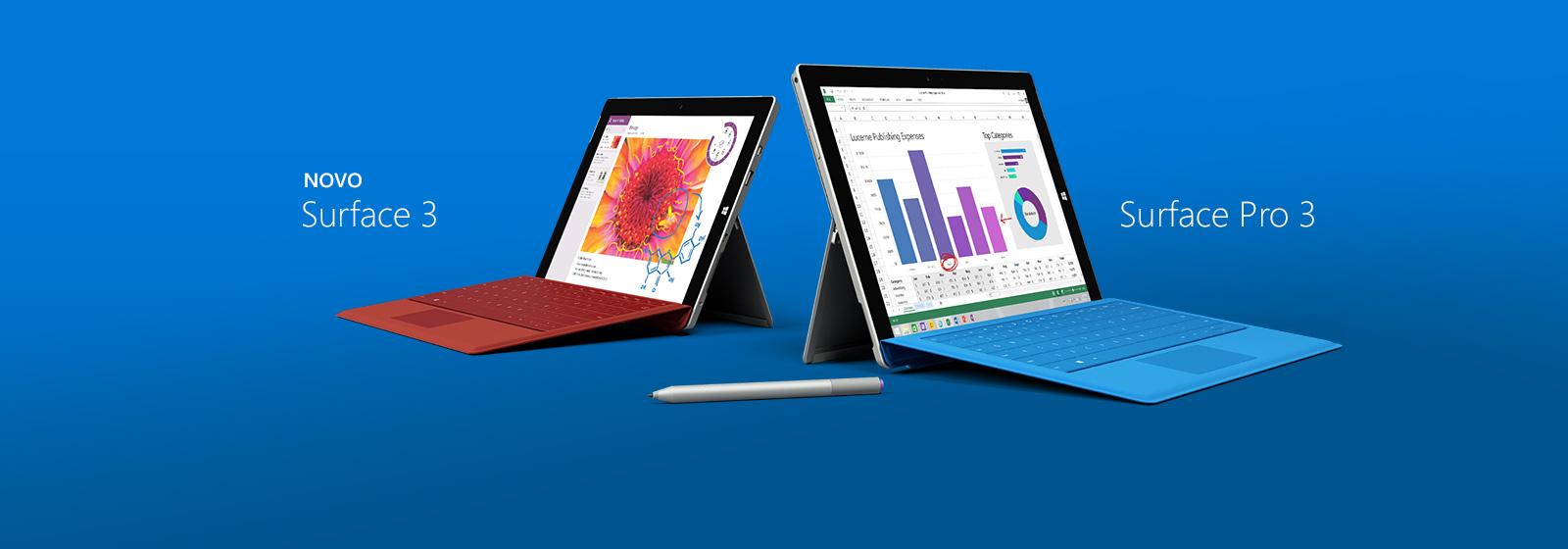 Há um Surface ideal para todos. Compre agora.
