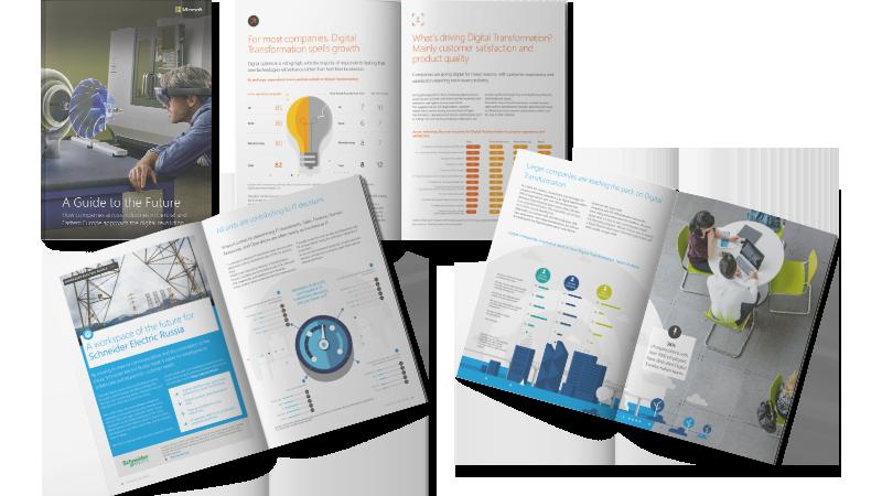 Pagini deschise dintr-un raport de transformare digitală