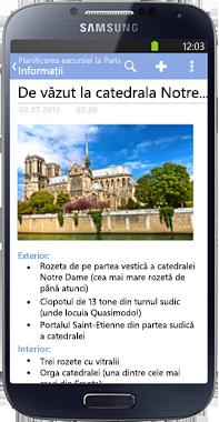 OneNote pentru telefoane cu Android