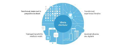 Diagramă preluată din studiul TEI care afișează o strategie din patru părți pentru a crea o transformare la nivel de companie