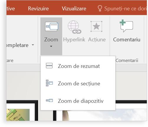 O tabletă ce afișează un diapozitiv PowerPoint cu Zoom