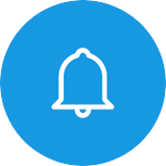bell icon for control and notifications