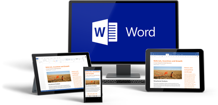Приложение Word можно установить на всех используемых устройствах