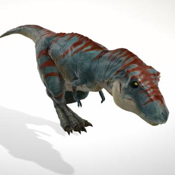 Трехмерное изображение динозавра