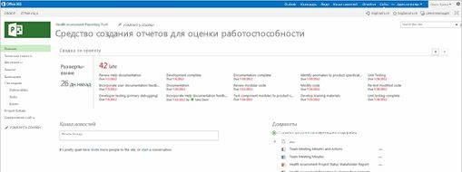 Экран Microsoft Project