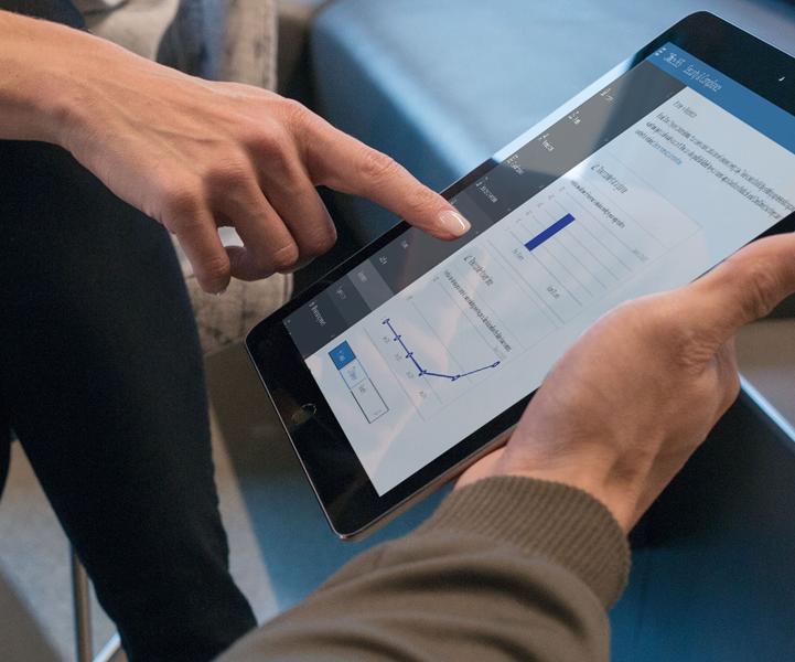 Управление данными Office 365 на экране устройства